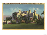 Palo Alto, California - View of Herbert Hoover's Home, Stanford U. Print
