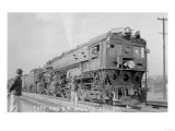 Reno, Nevada - Type 4100 Southern Pacific Rail Engine Print by  Lantern Press