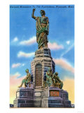Plymouth, Massachusetts - View of National Monument to US Forefathers Print by  Lantern Press