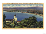 Palo Verde Hills, California - View of Redondo & Hermosa Beaches Prints