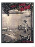 Lake Tahoe, California - Wooden Boat Poster Print
