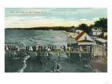 Rochester, New York - Sea Breeze Pier and Lake Scene Póster