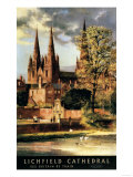 Lichfield, England - View of Lichfield Cathedral British Railways Poster Posters by  Lantern Press