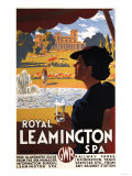 Leamington, England - Royal Spa, Woman Drinking Water Rail Poster Posters by  Lantern Press