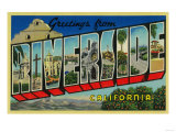Riverside, California - Large Letter Scenes Poster by  Lantern Press