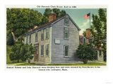 Lexington, MA - Old Hancock Clark House View, Paul Revere Rode By Posters