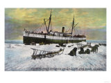 Nome, Alaska - A Steamer Landing on the Ice Posters by  Lantern Press