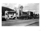 North Bend, Washington - Exterior View of McGrath's Cafe Print by  Lantern Press