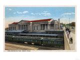 Omaha, Nebraska - Burlington Railroad Station View Poster von  Lantern Press