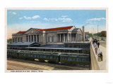 Omaha, Nebraska - Burlington Railroad Station View Posters by  Lantern Press