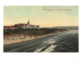 Redondo, California - View of Beach & the Hotel Redondo Prints