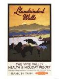 Llandrindod Wells, England - Wye Valley Resort British Rail Poster Posters by  Lantern Press