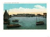 Nantucket, Massachusetts - View of White Elephant Poster by  Lantern Press