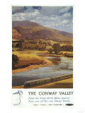 North Wales, England - Conway Valley Scene British Railways Poster Poster by  Lantern Press