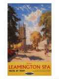 Leamington, England - Royal Spa, Street View British Railways Poster Print