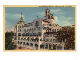 Riverside, California - View of the Rotunda Wing at the Mission Inn Print by  Lantern Press