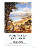 Northern Ireland - Pastoral Scene Man and Dog British Railways Poster Posters