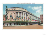 Rochester, New York - Exterior View of Eastman Theatre and School of Music Posters by  Lantern Press
