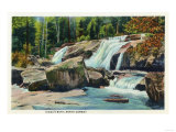 North Conway, New Hampshire - View of Diana's Bath Print by  Lantern Press
