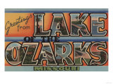 Missouri - Lake of the Ozarks Poster by  Lantern Press