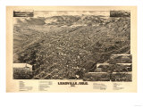 Colorado - Panoramic Map of Leadville No. 2 Posters