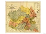 """Former Limits of Cherokee """"Nation of"""" Indians No.1 - Panoramic Map Posters by  Lantern Press"""