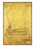 Mississippi - Panoramic Map Posters by  Lantern Press