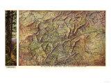 Western North Carolina - Panoramic Map Posters