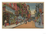 New York, NY - View of Chinatown Shops Posters by  Lantern Press