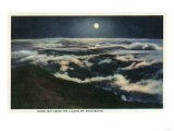 New Hampshire - Moonlight Above the Clouds on Mount Washington Posters