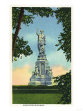 Plymouth, Massachusetts - View of the Forefathers Monument No. 2 Print