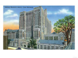 New Haven, Connecticut - Yale U Sterling Memorial Library Exterior View No. 2 Print by  Lantern Press