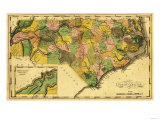 North Carolina - Panoramic Map Prints