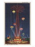 New York City, NY - Parachute Jump at World's Fair Print by  Lantern Press