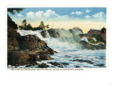 Maine - Indian Head and Old Man of the Falls View between Auburn & Lewiston Posters by  Lantern Press