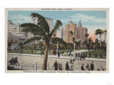 Miami, Florida - View of Bayfront Park & Hotels Posters