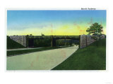New Haven, Connecticut - View of Merritt Parkway Poster