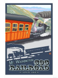 Mount Washington, New Hampshire - Cog Railroad Poster by  Lantern Press