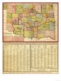 Oklahoma - Panoramic Map Poster by  Lantern Press