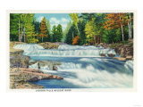 New Hampshire - View of the Wild Cat River and Jackson Falls Poster by  Lantern Press