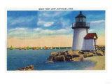 Nantucket, Massachusetts - Brant Point Lighthouse Scene Poster