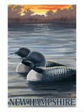 New Hampshire - Common Loon Posters by  Lantern Press