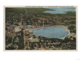 Lakeland, Florida - Aerial City View Showing Lakes Posters