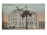 Pensacola, Florida - Exterior View of Post Office Posters