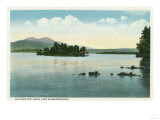 Lake Winnipesaukee, Maine - Lake View of the Belknap Mountains Posters