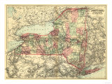 New York - Panoramic Map Prints