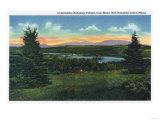 Rangeley Lakes, Maine - Manor Hill Overlooking Rangeley Village Scene Posters by  Lantern Press