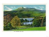 New Hampshire - View of Mount Chocorua and Lake Posters by  Lantern Press