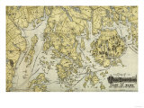 Mount Desert Island and Coast of Maine - Panoramic Map Posters