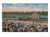Miami, FL - View of Hialeah Park with Horse Racing Posters by  Lantern Press